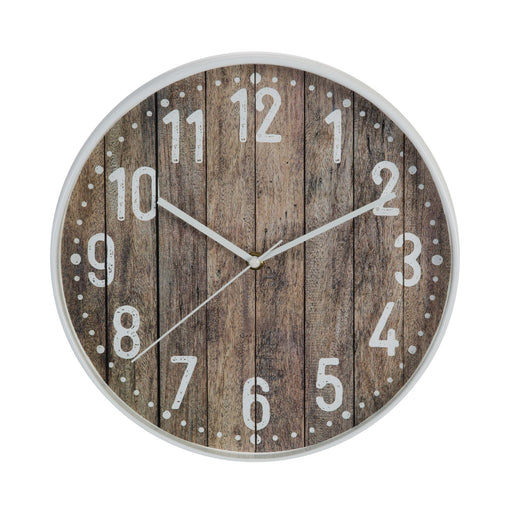 Hometime White Edge 30.5cm Wall Clock