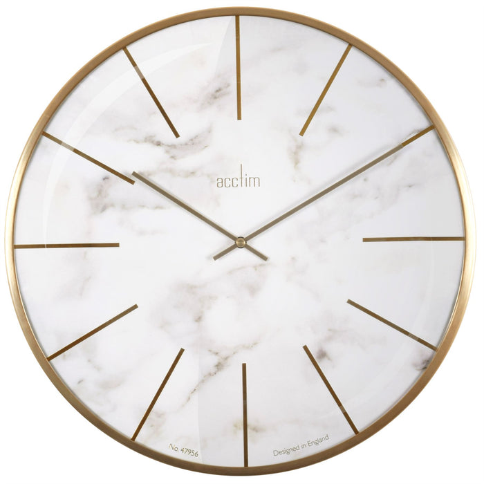 Acctim Luxe Brass 40cm Wall Clock