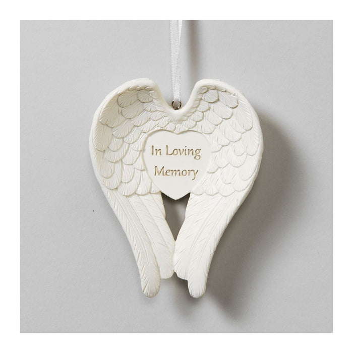 Thoughts Of You Angel Wings Memorial Ornament
