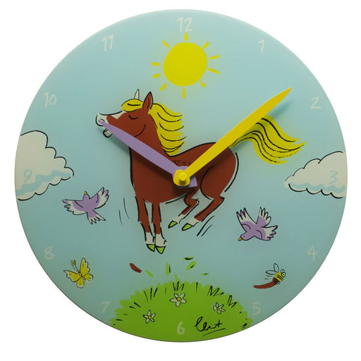 Nextime 'Jump for Joy' Horse 30cm Wall Clock