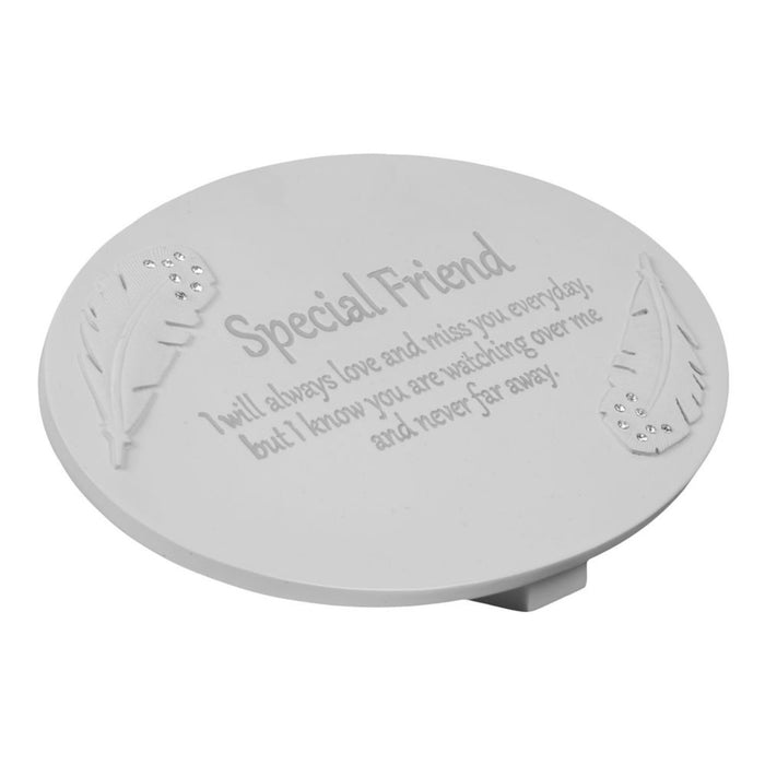 Thoughts of You Stone Look Resin Memorial Plaque Including Pet