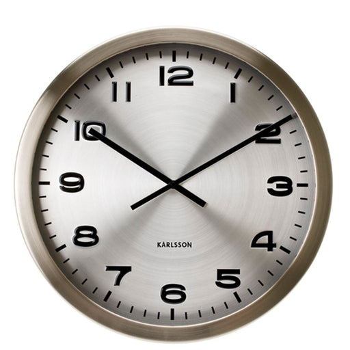 Karlsson Large Maxie Steel 50cm Wall Clock