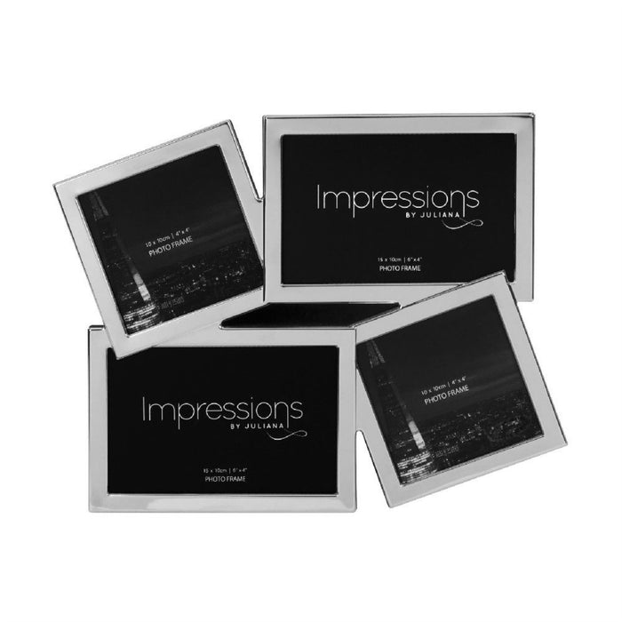 Impressions Silver Plated Overlapping Multi Photo Frame