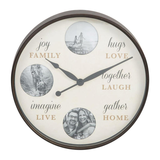 Hometime Round Photo Frame 31cm Wall Clock