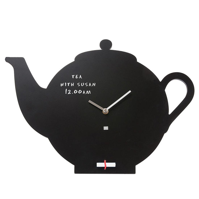Present Time 30cm Blackboard Teapot Wall Clock
