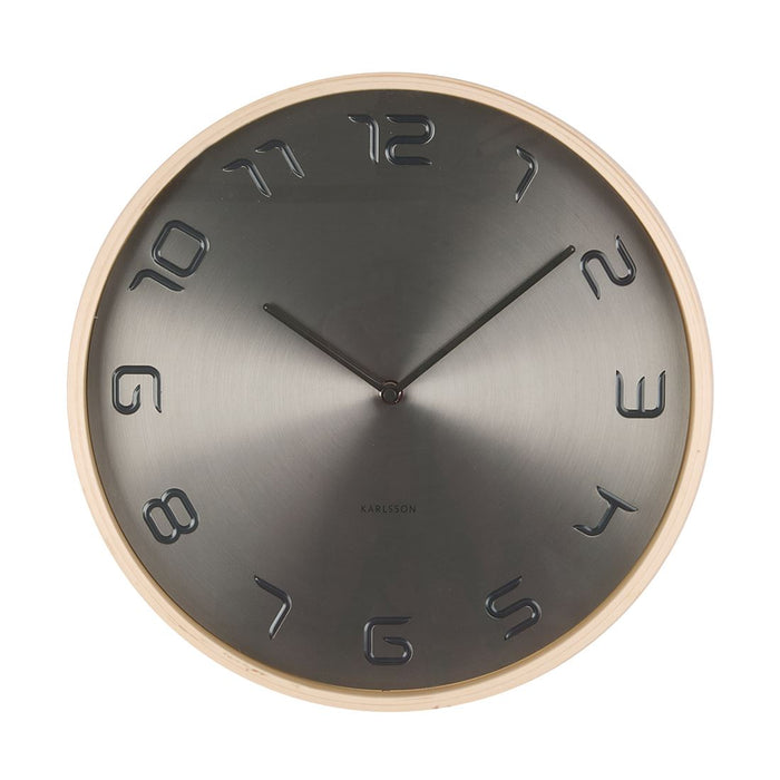 Karlsson Bent Wood 35cm Wall Clock