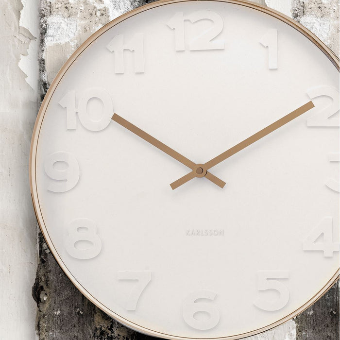 Karlsson Mr. White 51cm Wall Clock