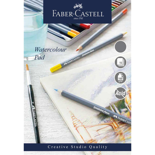 Faber Castell Creative Studio 15 Sheet Watercolour Paper Pad