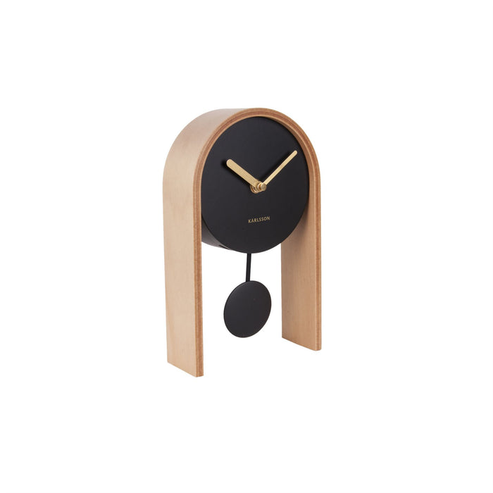 Karlsson Smart Wood Pendulum Table Clock
