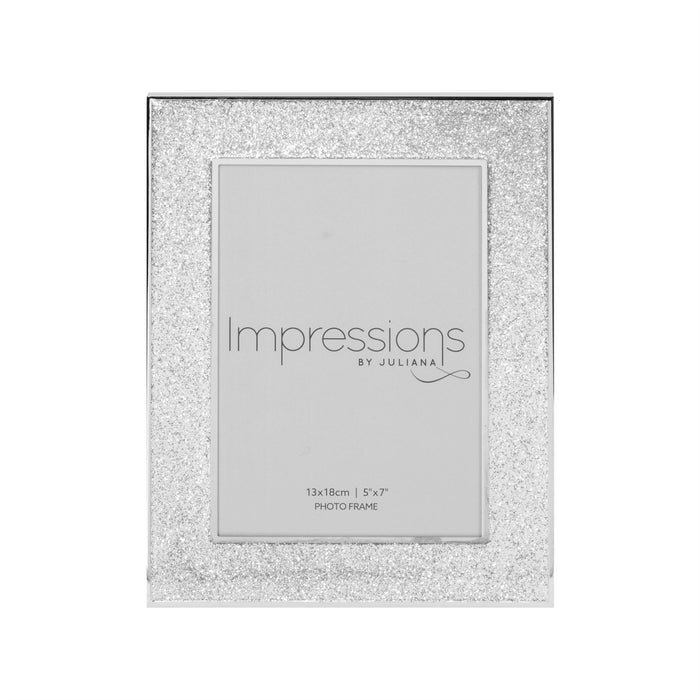 Impressions By Juliana Silverplated Glitter Band Photo Frame