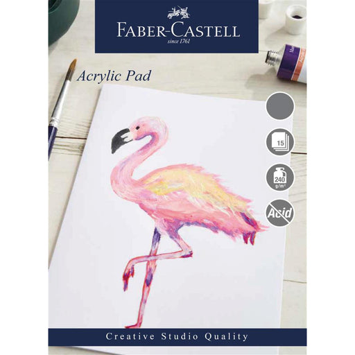Faber Castell Creative Studio 15 Sheet Acrylic Paper Pad