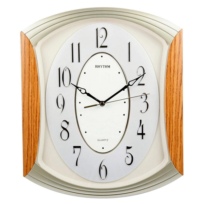 Rhythm 3D Dial Arched Top Silent 36cm Wall Clock