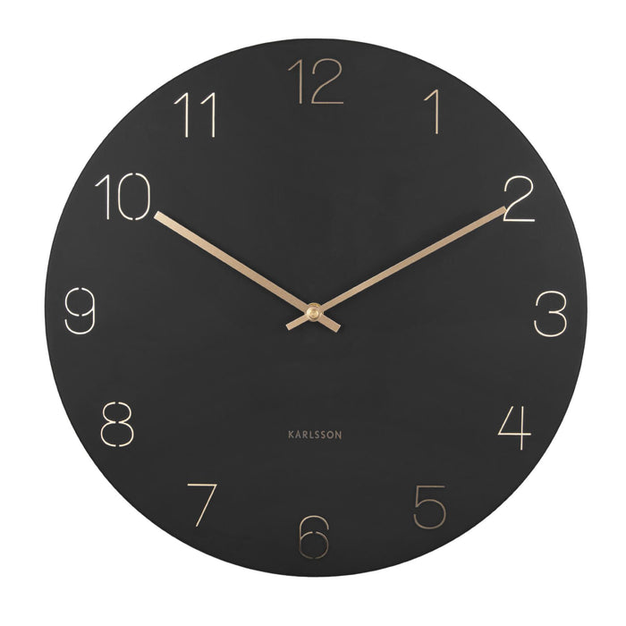 Karlsson Charm Engraved Numbers 40cm Wall Clock