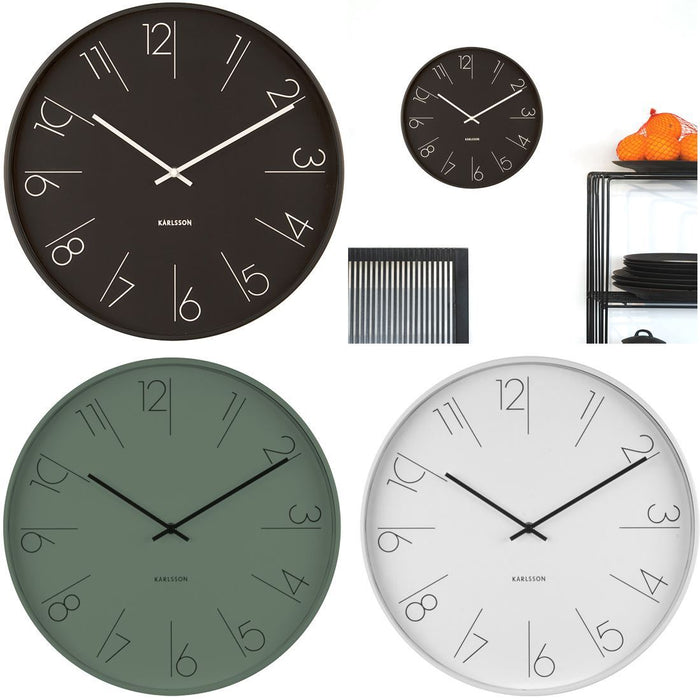 Karlsson Elegant Numbers Steel 40cm Wall Clock