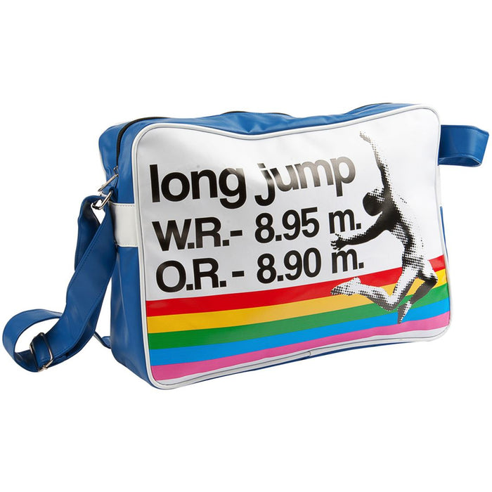 Silly Gifts Sports Blue Long Jump Record Messenger Bag