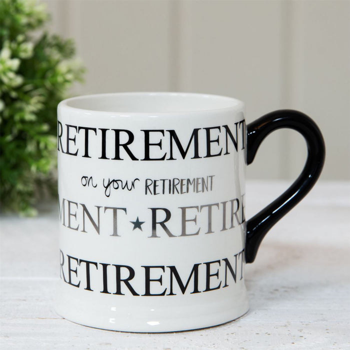 Quicksilver Birthday & Retirement Mugs with Foil Decoration