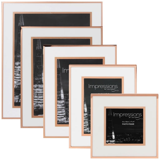 Impressions By Juliana Copper & White Photo Frame
