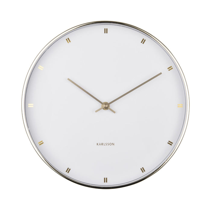 Karlsson Petite Metal Silent 27cm Wall Clock