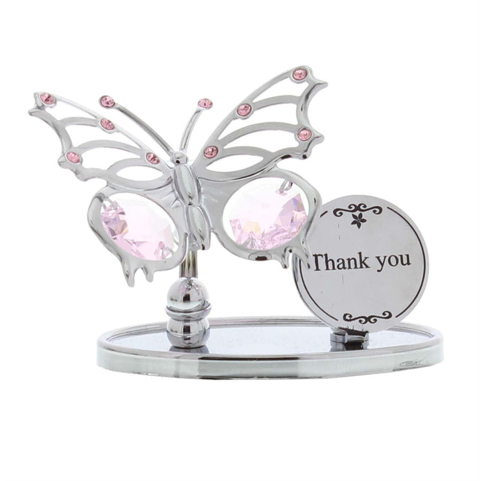 Crystocraft Butterfly Plaque Swarovski Crystal Ornament