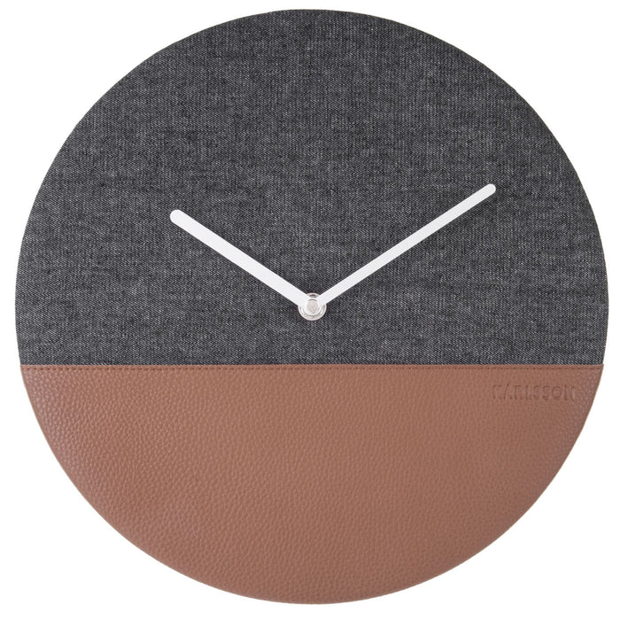 Karlsson Leather & Jeans 30cm Wall Clock