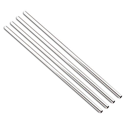 24Bottles Pack of 4 Stainless Steel Drinking Straws