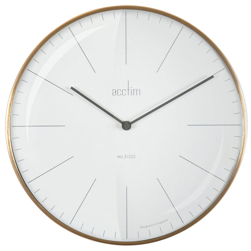 Acctim Koppen & Bianca Domed Glass 30cm Wall Clock