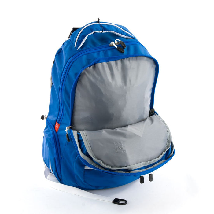 High Sierra Toiyabe Backpack in Royal Cobalt and White