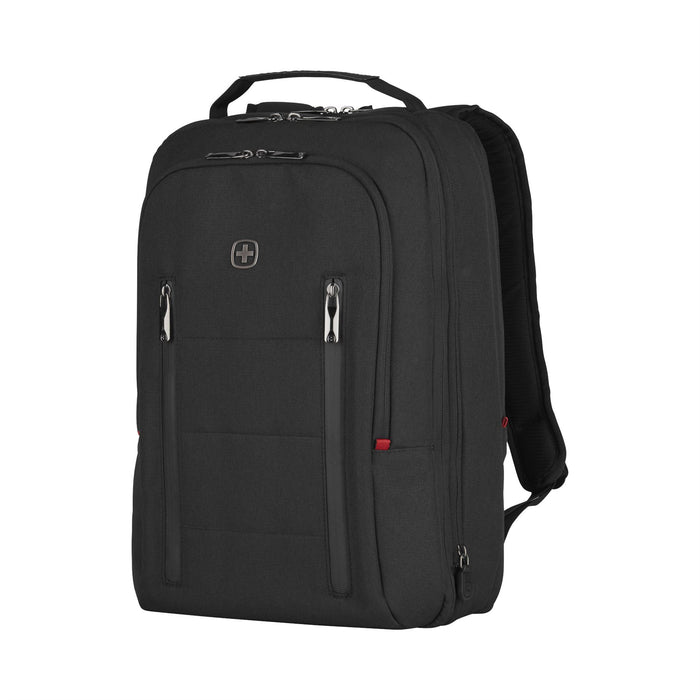 "Wenger City Traveler Carry-On 16"" Laptop Black Backpack w/ 12"" Tablet Pocket"