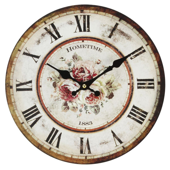 Hometime Roses 30cm Wall Clock