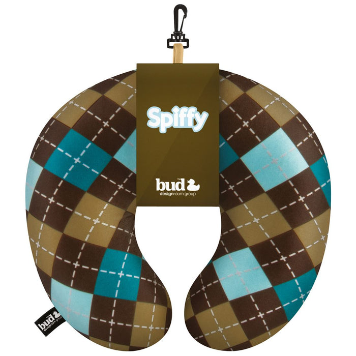 BUD Travel Buddy 'Spiffy' Argyle Travel / Neck Pillow