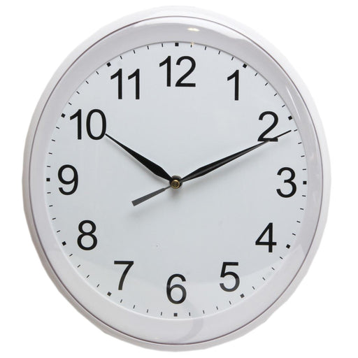 Wm.Widdop Silver Oval With White Dial Arabic Numbers Wall Clock