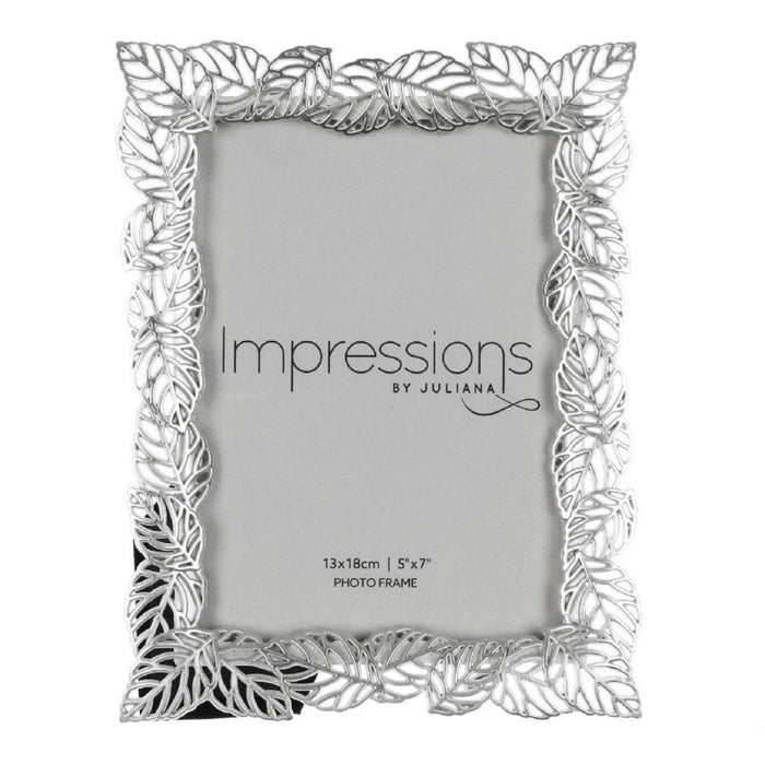 Impressions Silver Plated Filigree Leaf Photo Frame