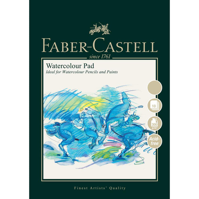 Faber Castell 10 Sheet Watercolour Paper Pad