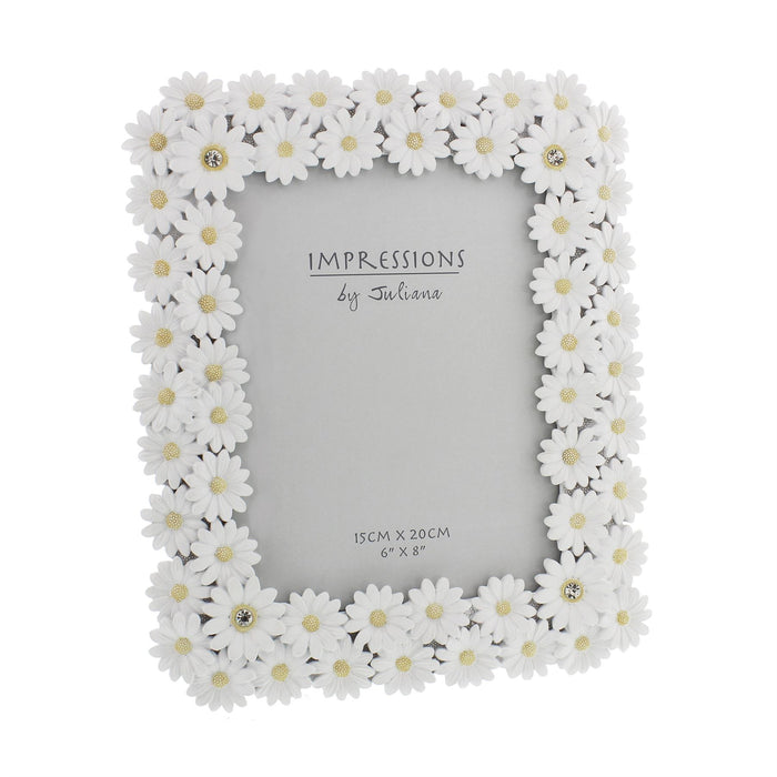 Impressions By Juliana White Resin Daisy Photo Frame