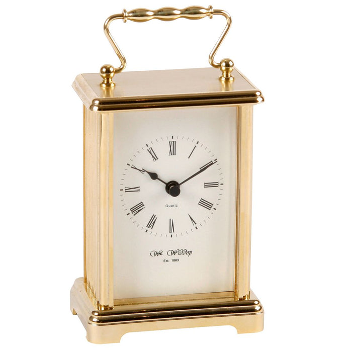 Wm.Widdop White Dial Carriage Clock