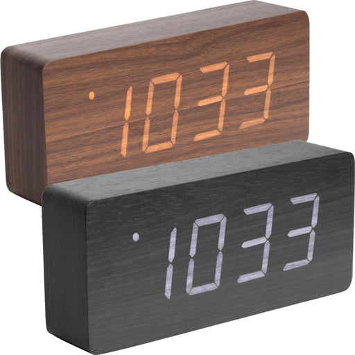 Karlsson Tube Wood Veneer Alarm Clock