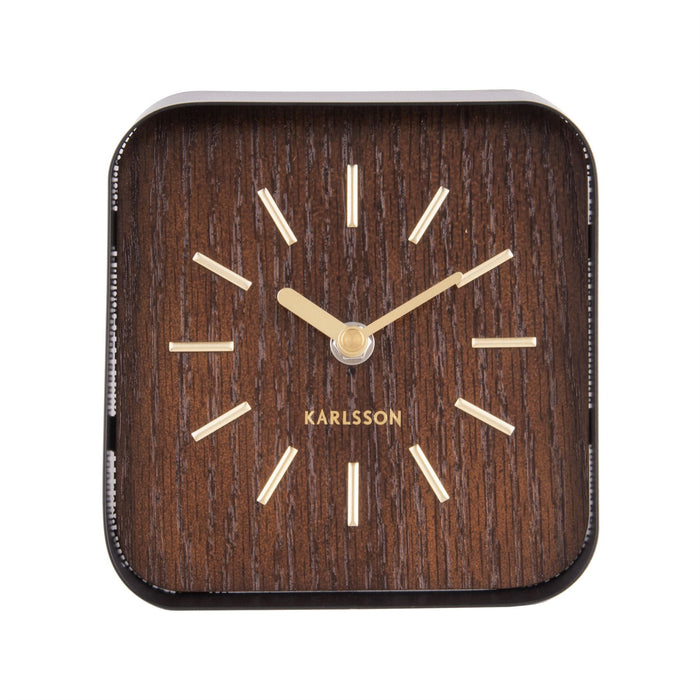 Karlsson Squared Steel Table Clock