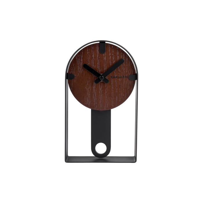 Karlsson Dashed Wood Veneer Table Clock