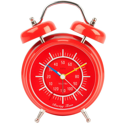 Silly Gifts Racing Team Red Metal With Vroom Sound Alarm Clock
