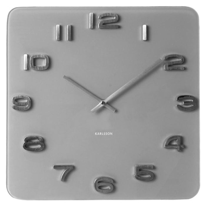 Karlsson Vintage Glass 3D Numbers Square & Round 35cm Wall Clock
