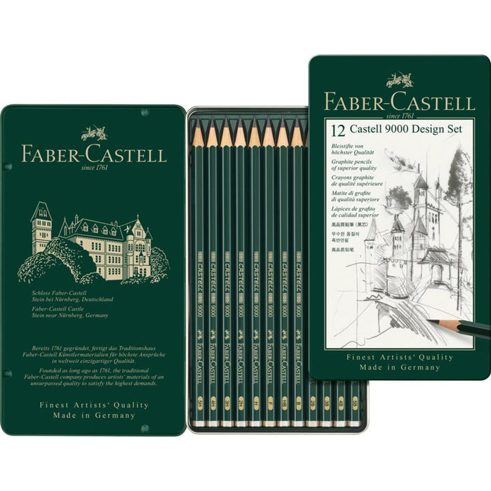 Faber Castell 9000 Design Pencils Tin Sets