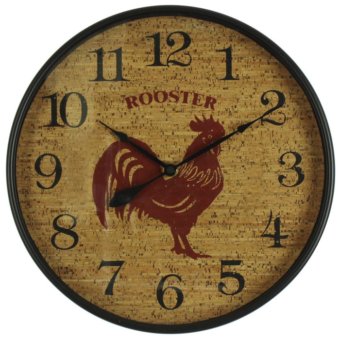Hometime Rooster 30cm Wall Clock