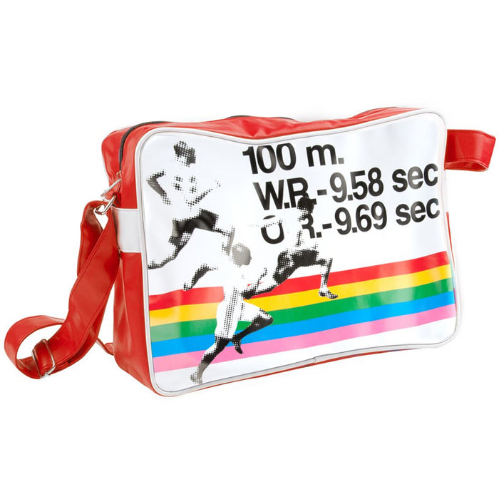Silly Gifts Sports Red 100m Sprint Record Messenger Bag