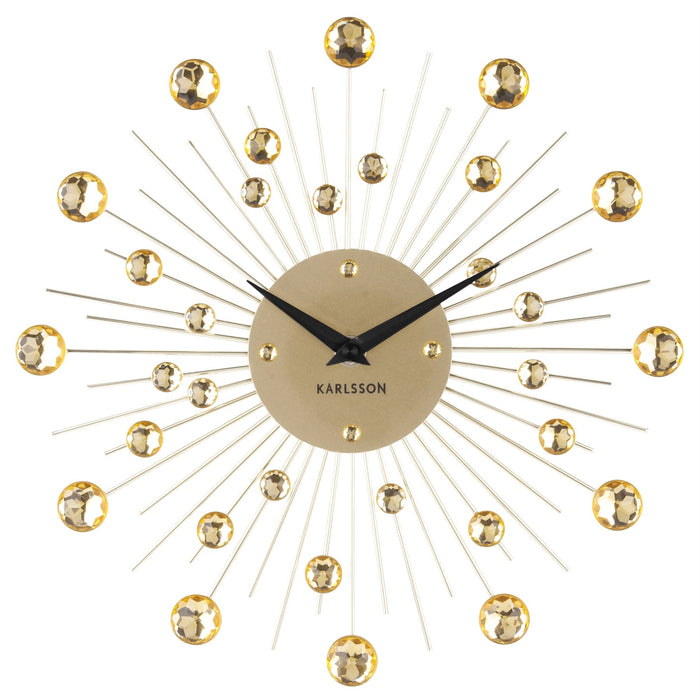 Karlsson 30cm Sunburst Crystal Wall Clock
