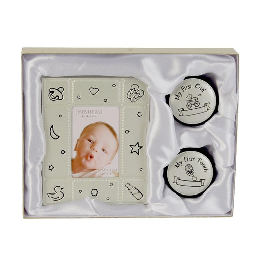 "2"" X 3"" Photo Frame, First Tooth & Curl Gift Set"