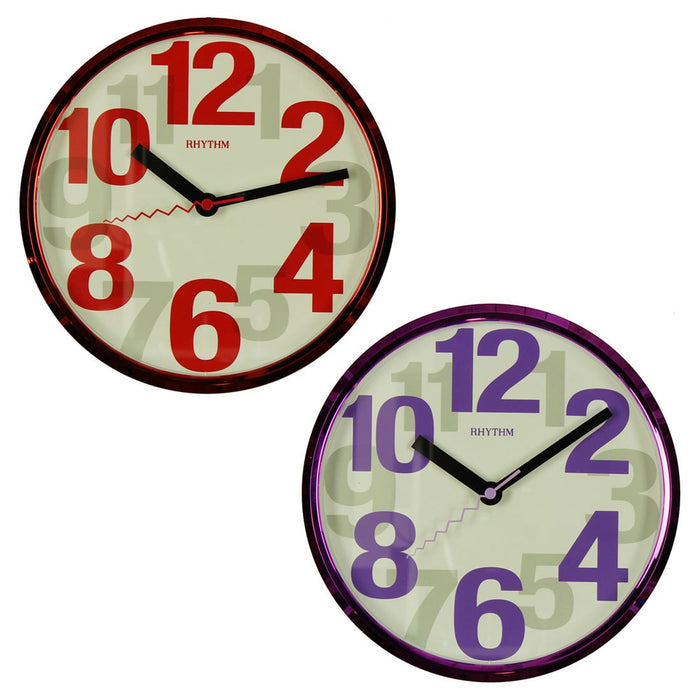 Rhythm Large Even Numbers Silent Wall Clock