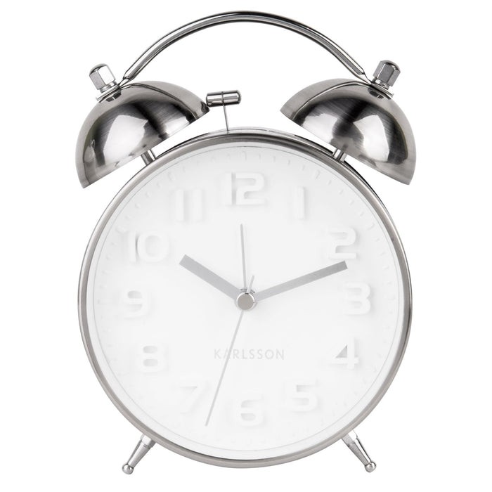 Karlsson Mr White Silent Alarm Clock