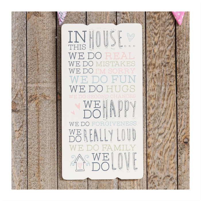Love Life House Sentiment Wall Plaque