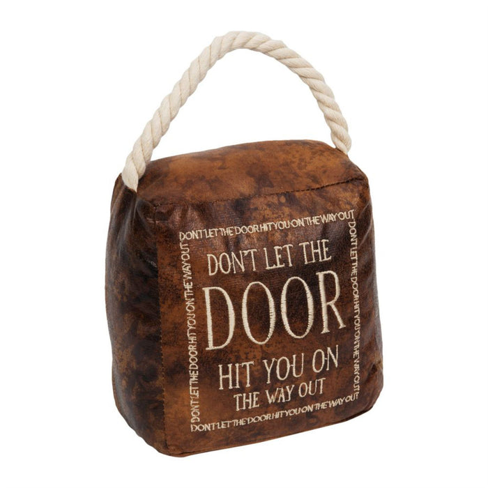 Hestia Leatherette & Rope Heavy Door Stop