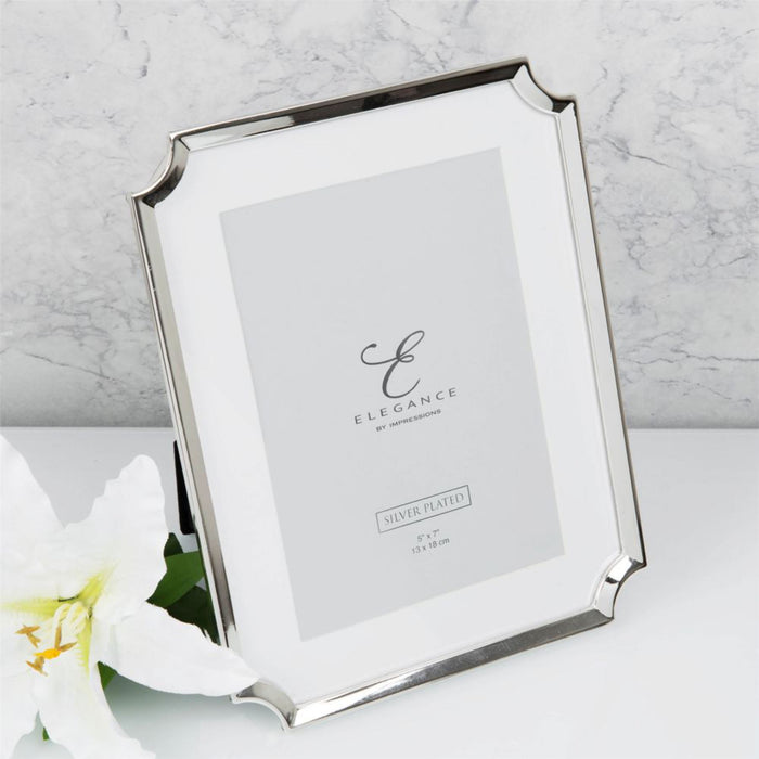 Elegance By Impressions Silver Plated Scallop Edge Premium Photo Frame with Gift Box
